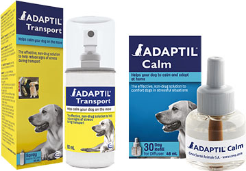 adaptil dog calm transport packs